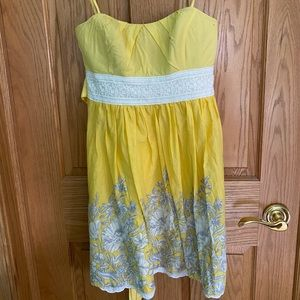 Delias yellow lace and floral dress